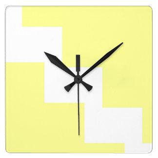 Pastel Yellow Chevron Wall Clock