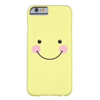 Pastel Yellow Cute Smiling Face iPhone 6 case Barely There iPhone 6 Case