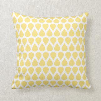 Pastel Yellow Dots Geometric Pattern Cushion