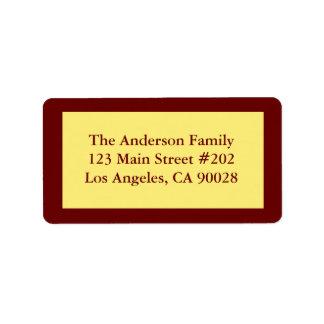pastel yellow address label