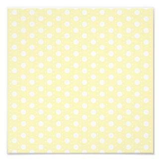 Pastel Yellow Polka Dot Photo Print
