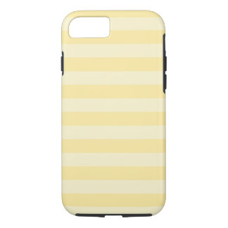 Pastel Yellow Striped Tough iPhone 7 Case