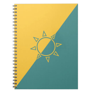 Pastel Yellow Sun Throw Notebook