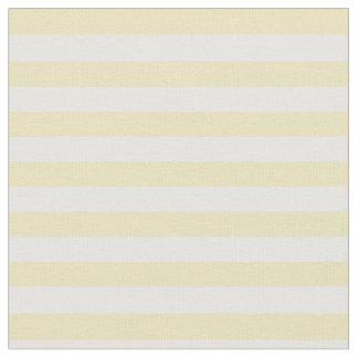 Pastel Yellow & White Striped Fabric