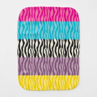 Pastel Zebra Patterns Baby Burp Cloth