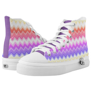 Pastel Zigzag High Top Shoes