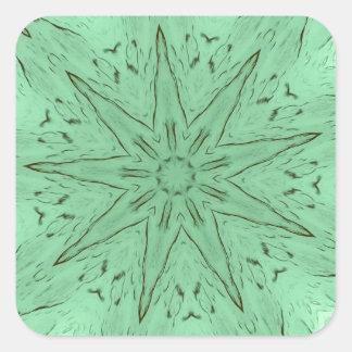 PastelGreen Spiked Mandala Square Sticker