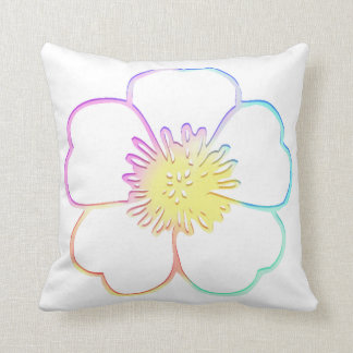 Pastell Faux Watercolor Painterly Flower Throw Cushions