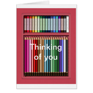 Pastels and pencils greeting card