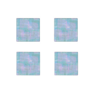 Pastels Geometric LInes Marble Stone Magnets