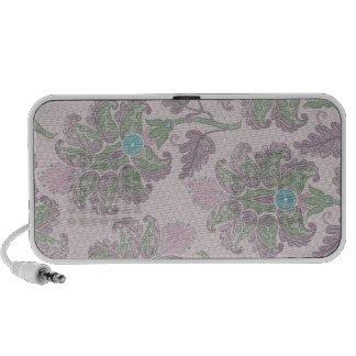 pastels spring floral damask laptop speakers