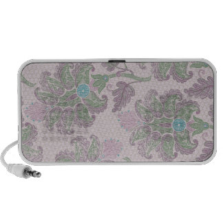 pastels spring floral damask notebook speakers