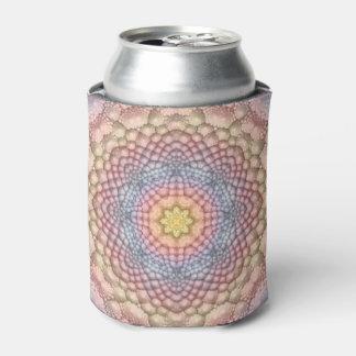 Pastels Vintage Kaleidoscope   Colorful Can Cooler