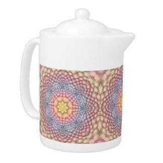 Pastels Vintage Kaleidoscope    Colorful Teapots
