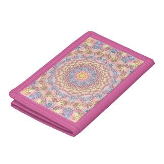 Pastels Vintage Kaleidoscope  colorful Wallets
