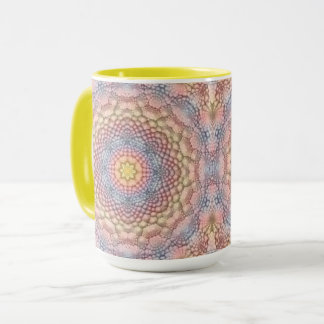 Pastels Vintage Kaleidoscope  Combo Mug