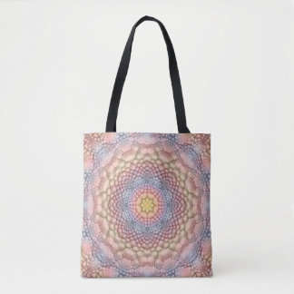 Pastels Vintage Kaleidoscope    Tote Bag