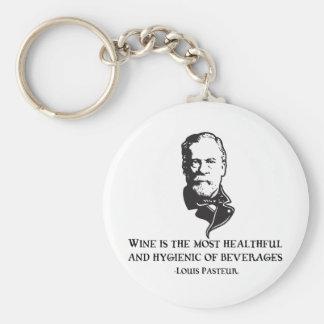 Pasteur - Wine Basic Round Button Key Ring