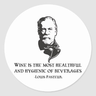 Pasteur - Wine Round Stickers