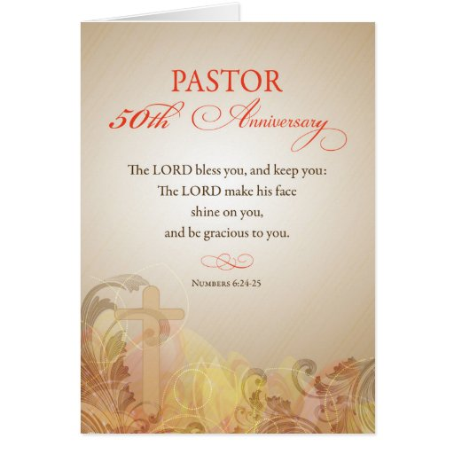 Pastor 50th Ordination Anniversary, Blessing Cards