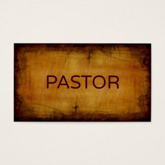 Pastor Antique Brushed Business Card