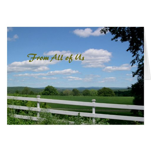Pastor Appreciation Card, Field and Fence
