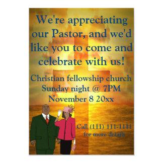 Pastor appreciation celebration 13 cm x 18 cm invitation card