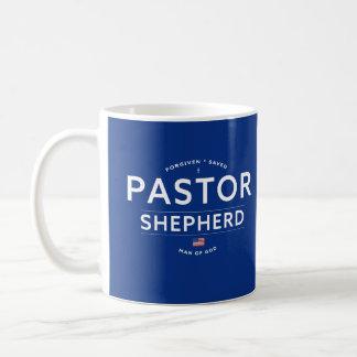 Pastor Appreciation Gift Mug with Cross, Flag