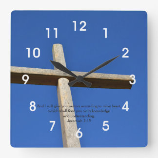 Pastor appreciation square wall clock
