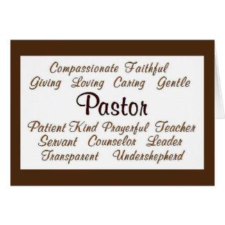 Pastor Attributes Greeting Card