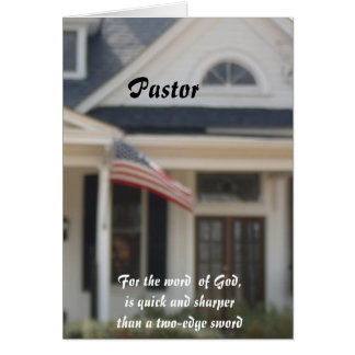 Pastor Greeting Cards
