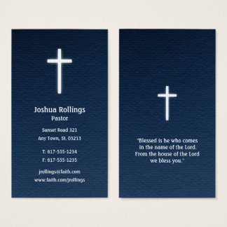 Pastor | Christian Cross Business Card
