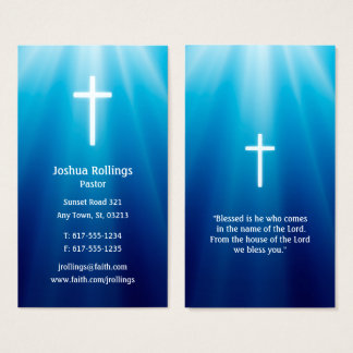 Pastor | Cross Elegant Business Card