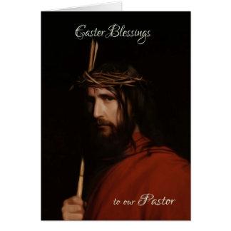 Pastor - Depiction In Oil Of Jesus, Easter Card