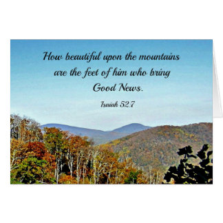 Pastor, God Bless You! Isaiah 52:7 Cards