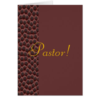Pastor Greeting Card