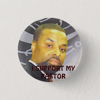pastor support 3 cm round badge
