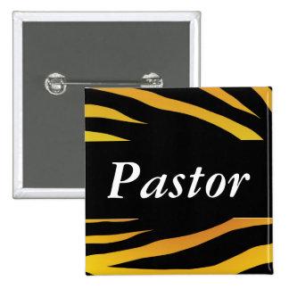 Pastor Wedding 15 Cm Square Badge