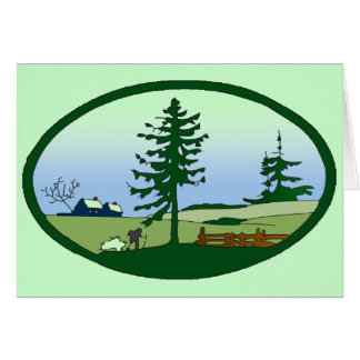 Pastoral Countryside Note Card
