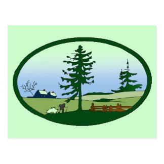 Pastoral Countryside Postcard