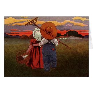 Pastoral Home Rural Farm Ranch Valentine's Cards