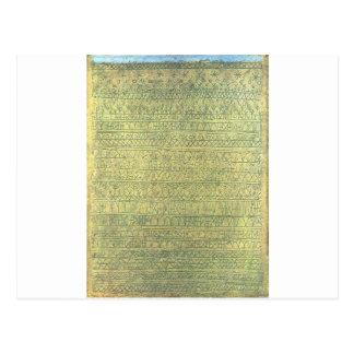 Pastoral (Rhythms) by Paul Klee Postcard