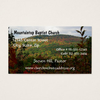 Pastor's Business Card