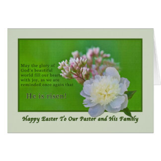 Pastor's Easter Card with Flowers
