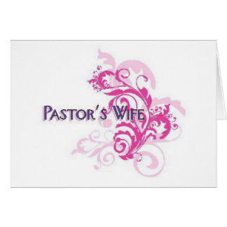 Pastors Wife Pink Cards