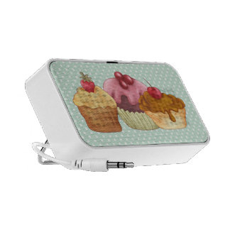 Pastries An Polkadots Doodle iPhone Speaker