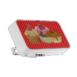 Pastries An Polkadots Doodle Portable Speaker