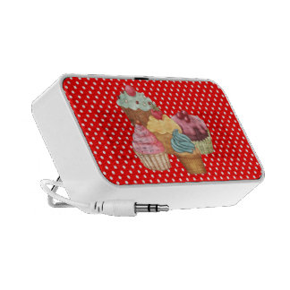 Pastries An Polkadots Doodle Travelling Speakers