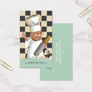 Pastry Chef Bakery Catering Business Card
