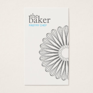 Pastry Chef Baking Whisk Modern Catering Business Card